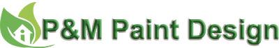 P&M Paint Design Logo